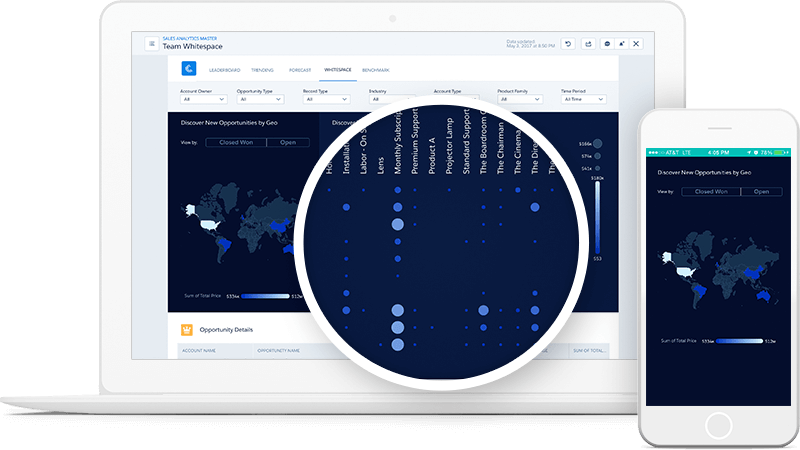 Salesforce Einstein Analytics Screenshot
